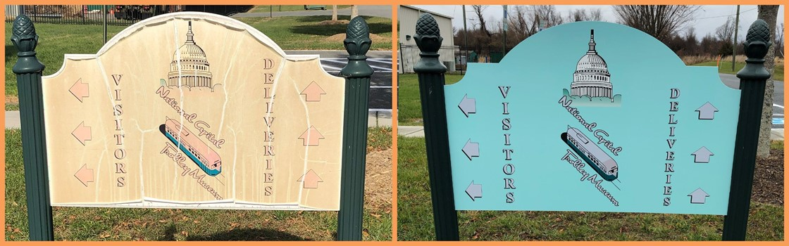 Before and After of a Post & Panel Sign